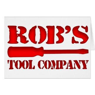 Rob's Tool Company Card