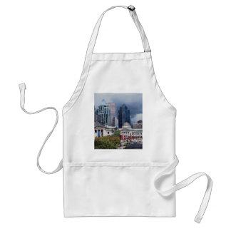 Robson ajusta, centro de ciudad, Vancouver, Col br Delantal