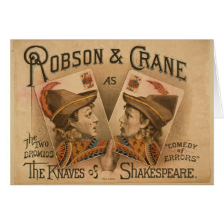 Robson & Crane - the Knaves of Shakespeare Card