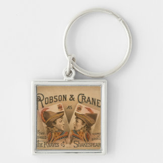 Robson & Crane - the Knaves of Shakespeare Silver-Colored Square Keychain