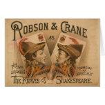 Robson y grúa - los bribones de Shakespeare Tarjeta De Felicitación