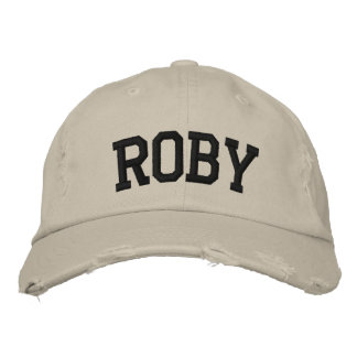 Roby Embroidered Hat Embroidered Baseball Cap