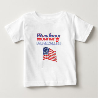 Roby for Congress Patriotic American Flag Design Tee Shirt