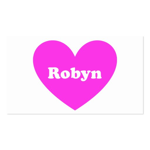 Robyn Double-Sided Standard Business Cards (Pack Of 100)