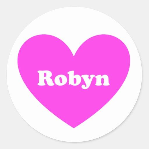 Robyn Classic Round Sticker