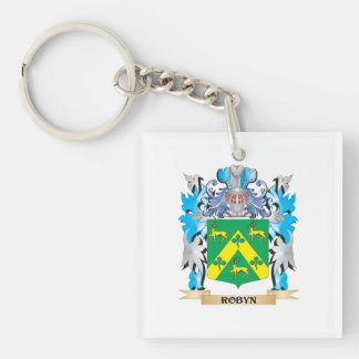 Robyn Coat of Arms - Family Crest Single-Sided Square Acrylic Keychain