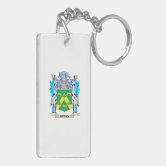 Robyn Coat of Arms - Family Crest Double-Sided Rectangular Acrylic Keychain