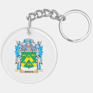 Robyn Coat of Arms - Family Crest Double-Sided Round Acrylic Keychain