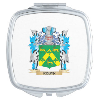 Robyn Coat of Arms - Family Crest Travel Mirrors