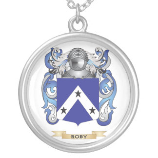 Robyn Coat of Arms (Family Crest) Round Pendant Necklace