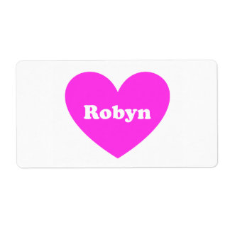Robyn Etiquetas De Envío