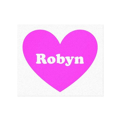 Robyn Impresión En Lona