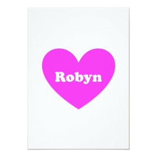 """Robyn Invitación 5"""" X 7"""""""