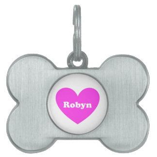Robyn Placa De Nombre De Mascota