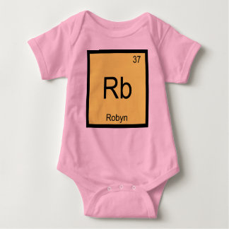 Robyn Name Chemistry Element Periodic Table Baby Bodysuit