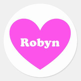 Robyn Pegatina Redonda