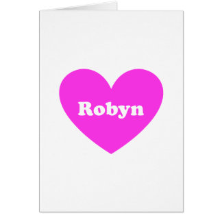 Robyn Tarjeta De Felicitación