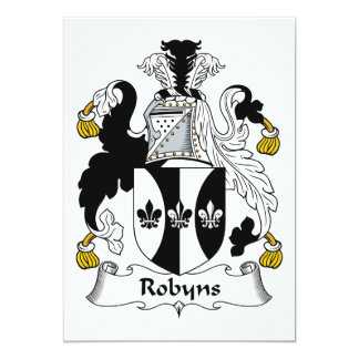 Robyns Family Crest Card