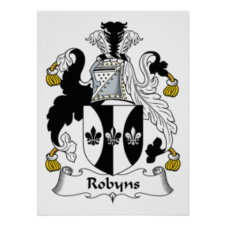 Robyns Family Crest Poster