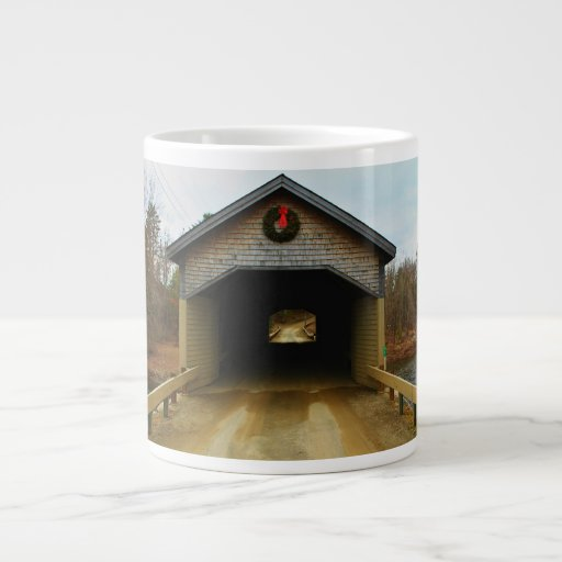 Robyville Covered Bridge, Corinth, Maine I Large Coffee Mug