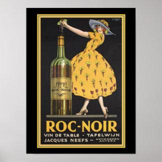 Roc-Noir Vintage Ad Poster 12 x 16