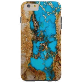 Roca 1 de la turquesa funda de iPhone 6 plus tough