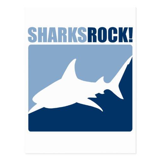 Roca #2 de los tiburones postal