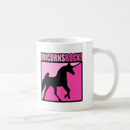 Roca #3 de los unicornios taza de café