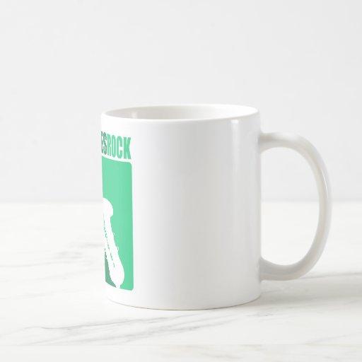 Roca #4 de Saxaphone Tazas De Café