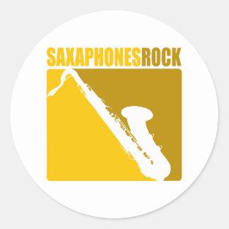 Roca #5 de Saxaphone Etiquetas Redondas