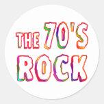 roca 70s etiquetas redondas