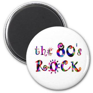 roca 80s imán redondo 5 cm