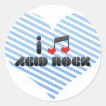 Roca ácida etiquetas redondas