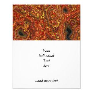 """roca acodada, rojo (i) folleto 4.5"""" x 5.6"""""""