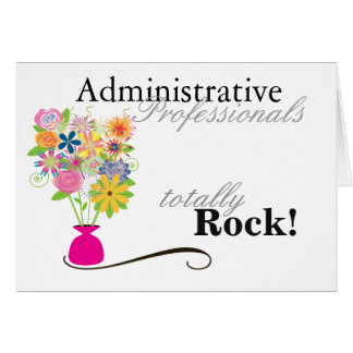 ¡Roca administrativa de los profesionales! Tarjeta De Felicitación
