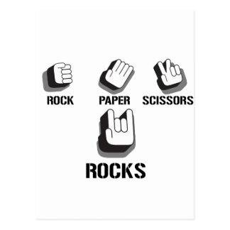 Roca alternativa del Grunge de Emo de las tijeras  Tarjetas Postales