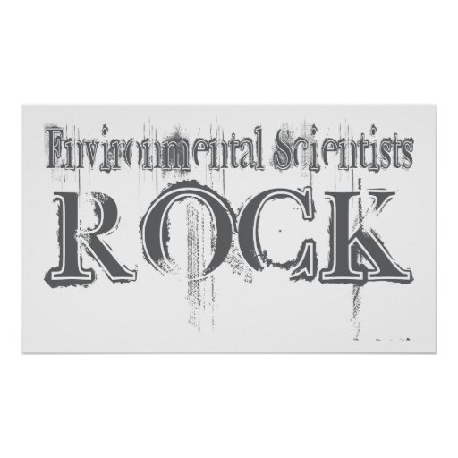 Roca ambiental de los científicos impresiones