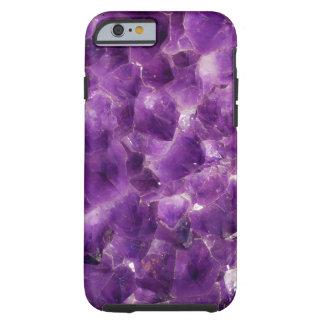 Roca Amethyst púrpura febrero Birthstone de la Funda De iPhone 6 Tough