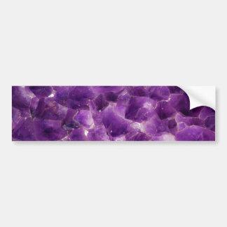 Roca Amethyst púrpura febrero Birthstone de la pie Pegatina Para Auto