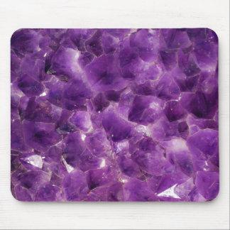 Roca Amethyst púrpura febrero Birthstone de la pie Tapete De Ratón