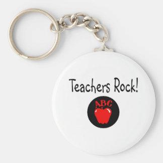 Roca Apple 2 de los profesores Llavero Redondo Tipo Pin