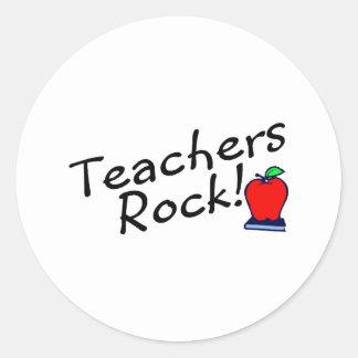 Roca Apple de los profesores Pegatina Redonda