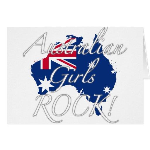 ¡Roca australiana de los chicas! Felicitación