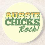 ¡ROCA australiana de los polluelos! Posavasos Diseño