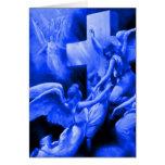 Roca azul de edades tarjeta de felicitación