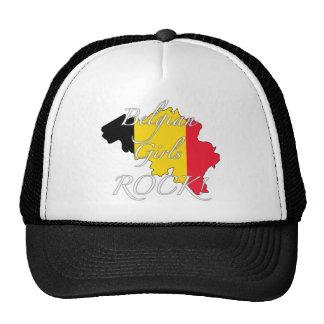 ¡Roca belga de los chicas! Gorras De Camionero