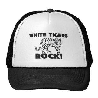 Roca blanca de los tigres gorros bordados