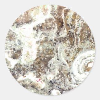 roca blanca del extracto del marrón amarillo