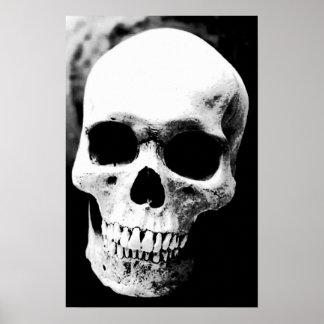 Roca blanca del metal de la fantasía del negro de póster