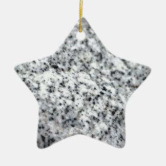 Roca blanco y negro del granito adorno de cerámica en forma de estrella